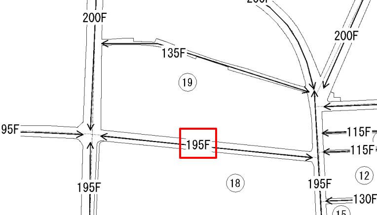 路線価図のイラスト